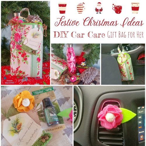 DIY Car Care Homemade Gift Bag For Her