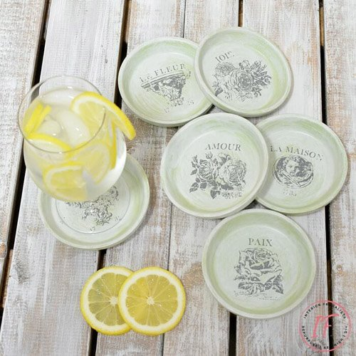 Dollar Store Clay Plant Saucer Drink Coasters