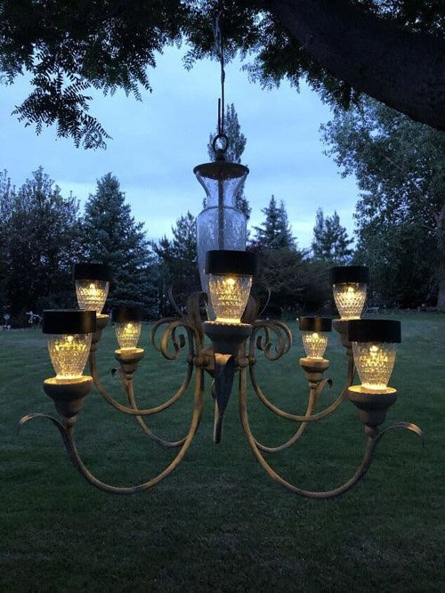 CHAS FROM CHAS' CRAZY CREATIONS -  How To Make A Solar Chandelier