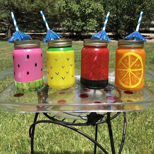 How To Make Fruit Mason Jar Glasses
