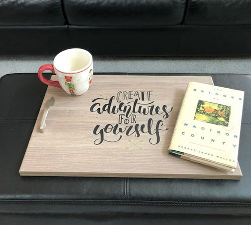 Chas from Chas' Crazy Creations – IKEA Cabinet Door DIY Serving Tray
