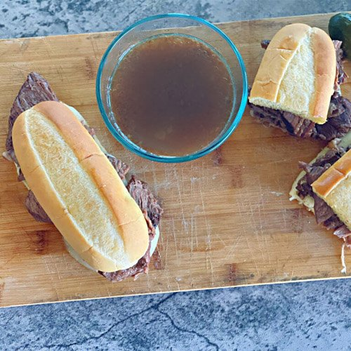 Slow Cooker French Dip Sandwich Link Party #241