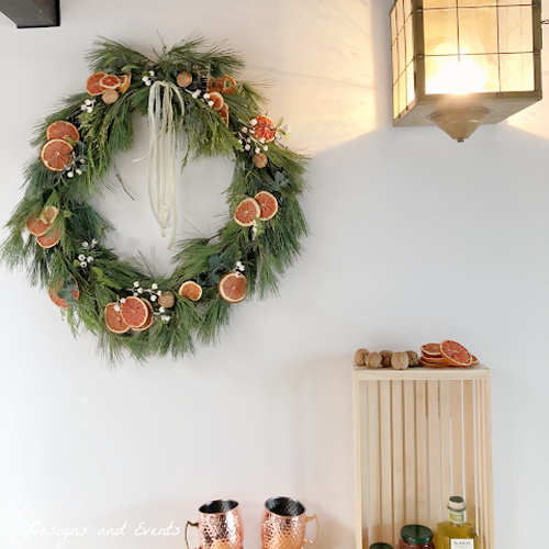 Trying to Make an After Christmas Dried Orange Wreath