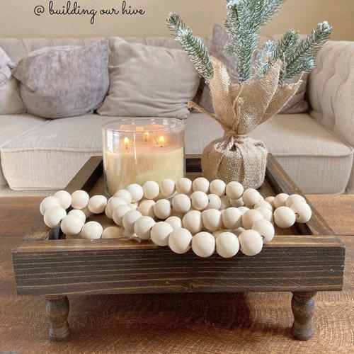 Simple Natural Wood Bead Garland