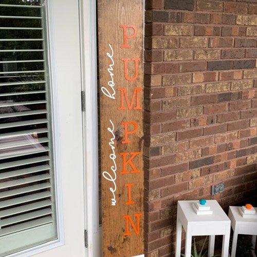 DIY: EASY FALL PORCH LEANER