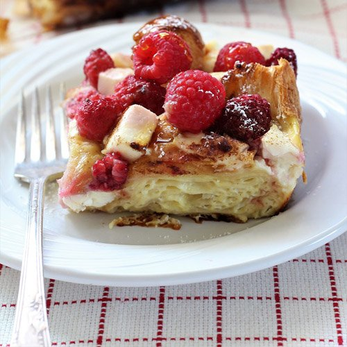 Raspberry Croissant Breakfast Bake