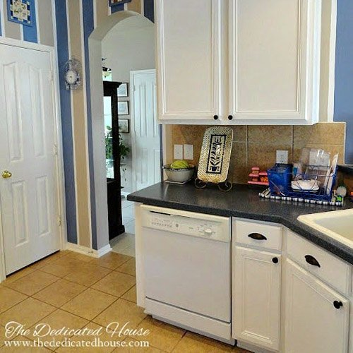 Kitchen Cabinet Transformation Link Party #248