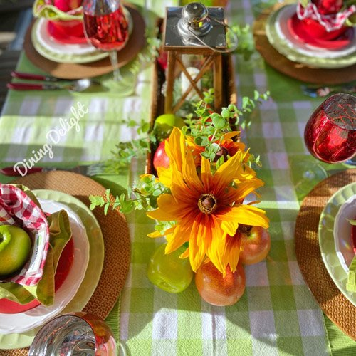 Late Summer Apple Themed Tablescape