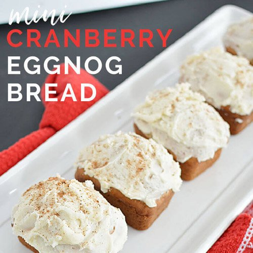 Easy Mini Cranberry Eggnog Loaves For Gift Giving