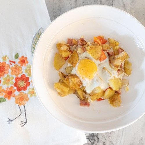 Skillet Breakfast With Over Easy Eggs