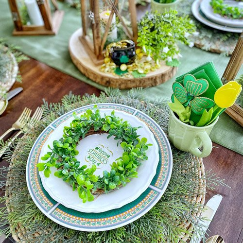 Leprechaun and Lanterns - St Patrick's Day Table