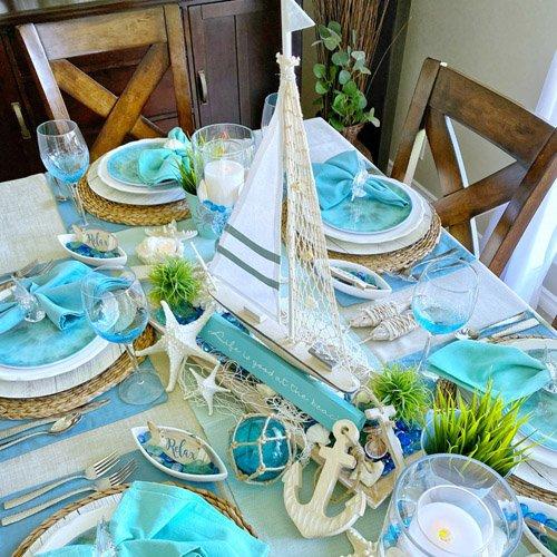 Summer Sailing Beach Tablescape