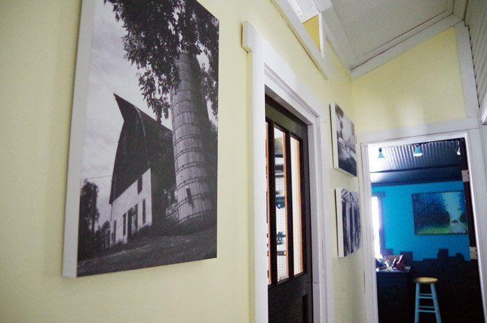 Besides a random peak from reveals of other parts of the house this is the very first time I've ever wrote a post about our back hall!