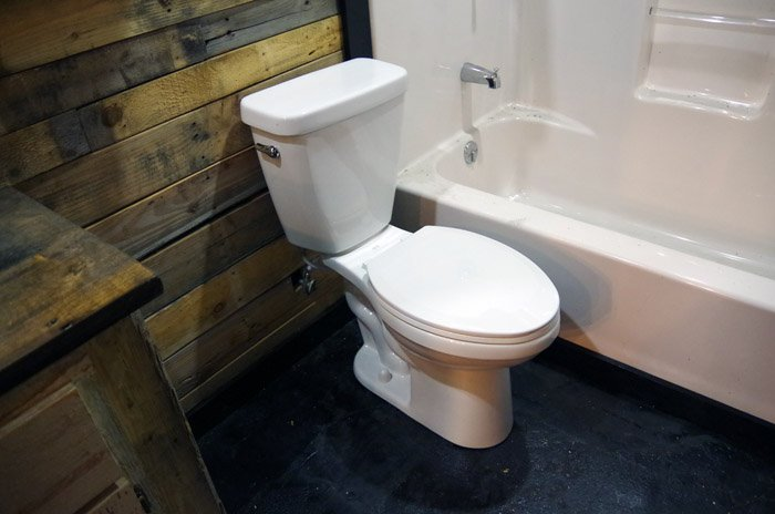 We officially, for the first time EVER, have a working basement bathroom! If you had told me that a major highlight in my life would be