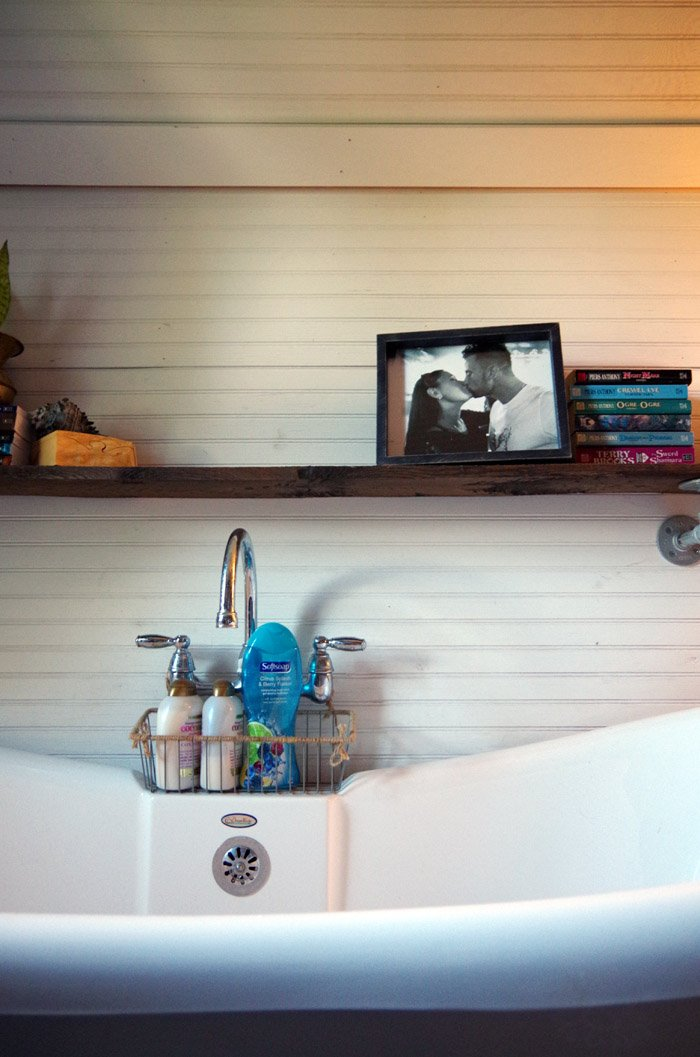 Most particularly the changes we've made have given us a lot more bathroom organization and storage that were simple and improved the space!
