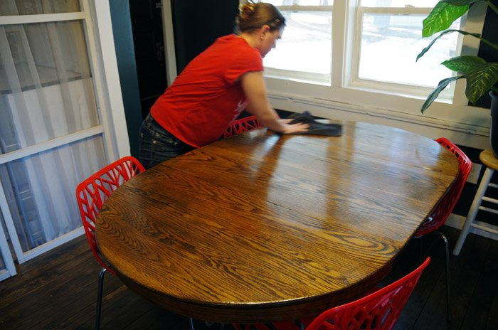 How to Remove Paint from Wood Furniture - I just can't have nice things... Literally DECADES ago my Mom promised me this table