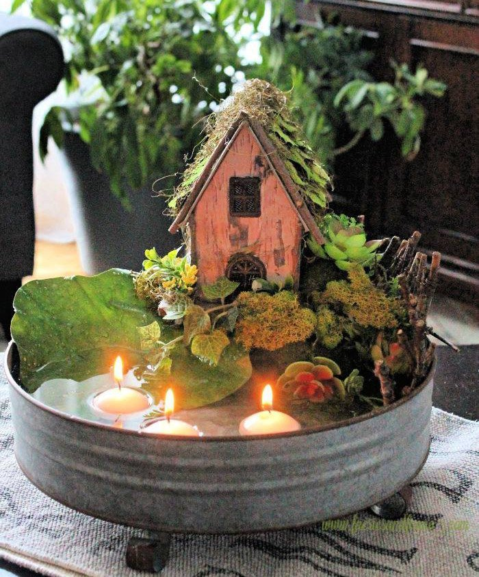 Table Centerpiece with The Farmhouse Hens Decorate