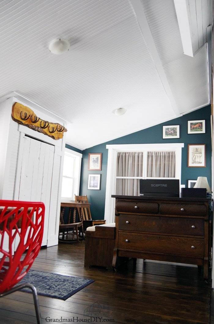Before and after of my multi functional entry and dining room that is also now doubling as my office and mudroom too! See how I transformed this space