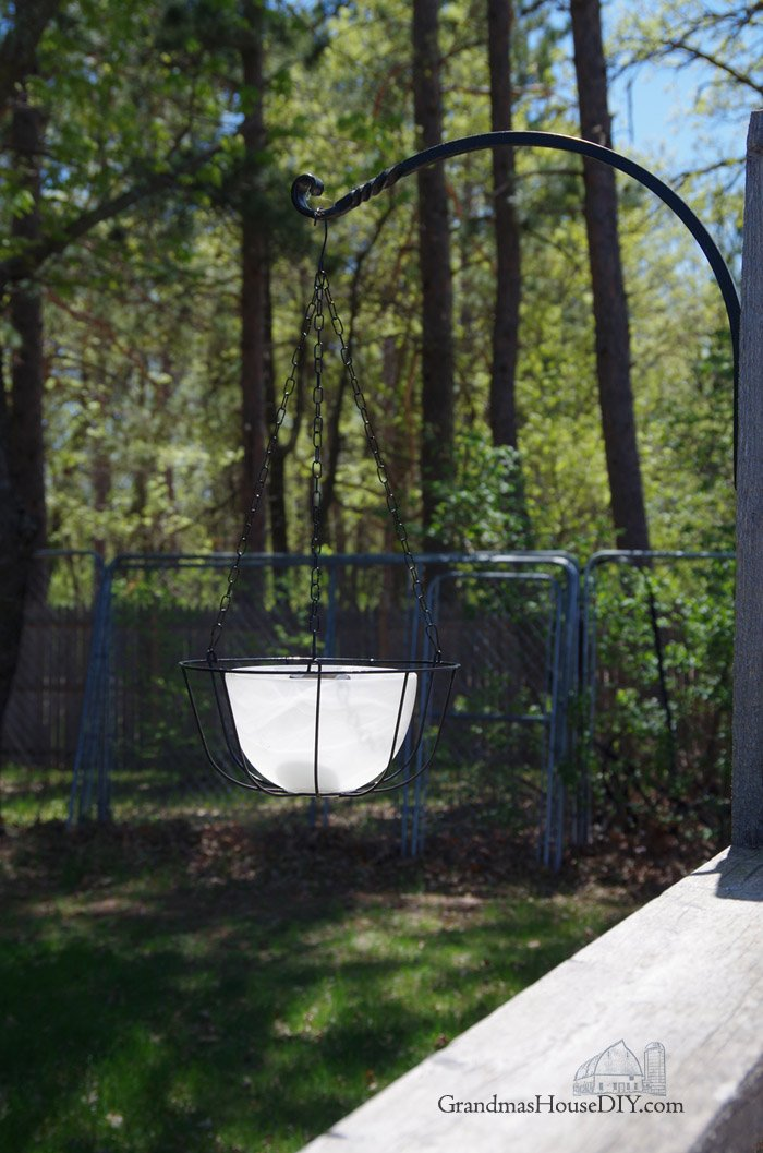 Hanging Solar Lights Using Glass Chandelier Bowls And