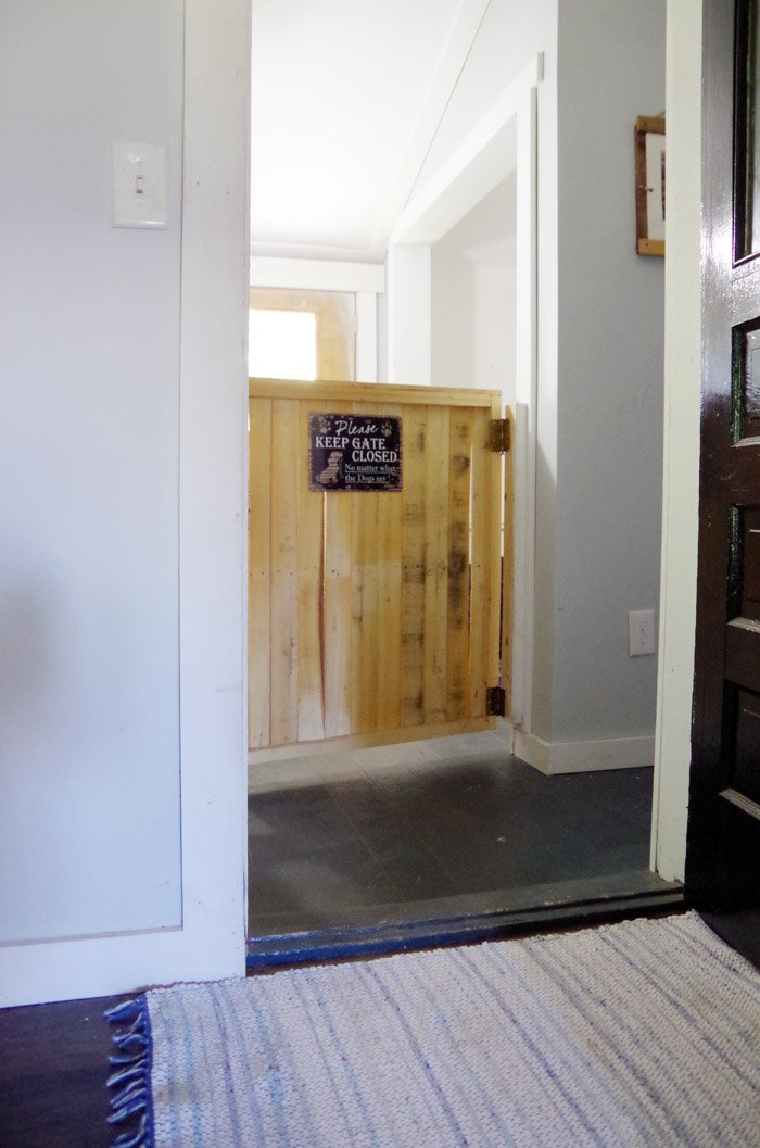 Creating a safe and cool dog space inside my home with a doggie door where the dogs can be out of the way but still warm with food and saddle blankets