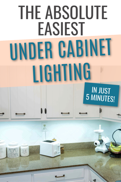 Amy from Health Home and Heart – The Absolute Easiest Under Cabinet Lighting