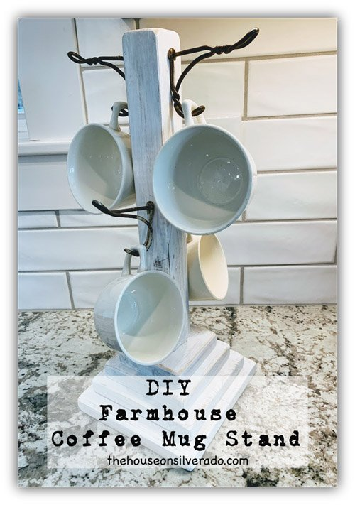 Niky from The House on Silverado - DIY Farmhouse Coffee Cup Stand