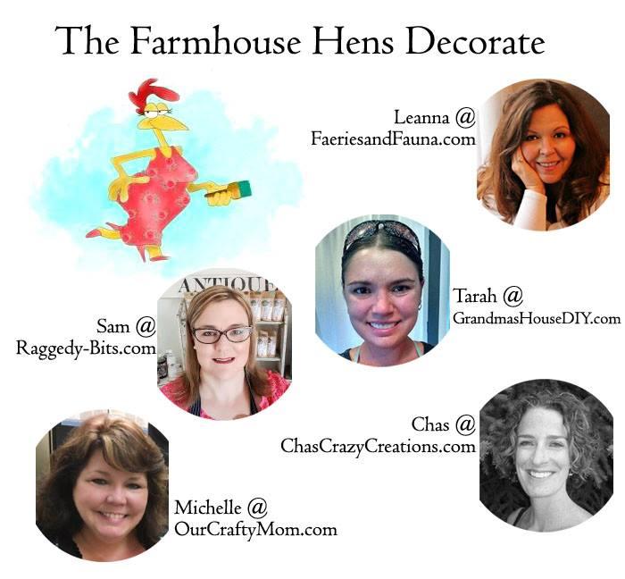 farmhouse hens decorate DIY group