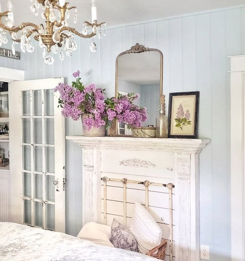 Kim from Shiplap and Shells - How to Make a Faux Fireplace Mantel Surround