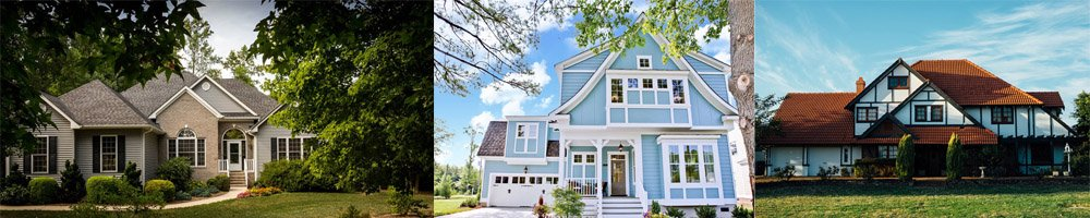 Home exterior design trends, style, paint, color, siding choices, verticle, horizontal, cedar shakes, windows, solar panel, landscaping increase house value