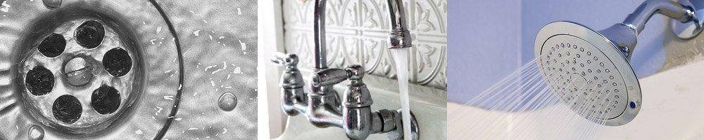 5 Most Common Home Plumbing Problems You Can Fix yourself, unclogging drains, dripping shower heads, replace shower knobs, fixing unclog, clogged up drains, using a plunger to fix a leaking or running toilet. How to install a new shower head.