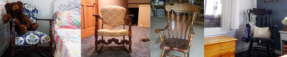 """Many years back one of my very first blog posts I ever wrote I called """"a story of two rocking chairs"""" - it was all about a big oak rocker"""