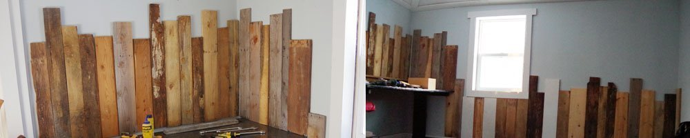 Adding Workshop Wainscoting with Pallet and Barn Wood using my new level with a review. Using my brad nailer nails I added wainscotting to my workshop
