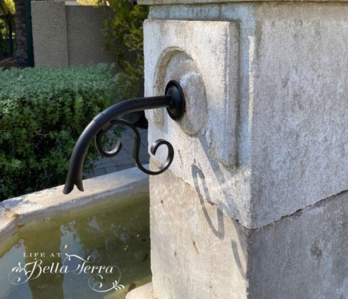 MARY FROM LIFE AT BELLA TERRA - Italian Fountain Project is Complete