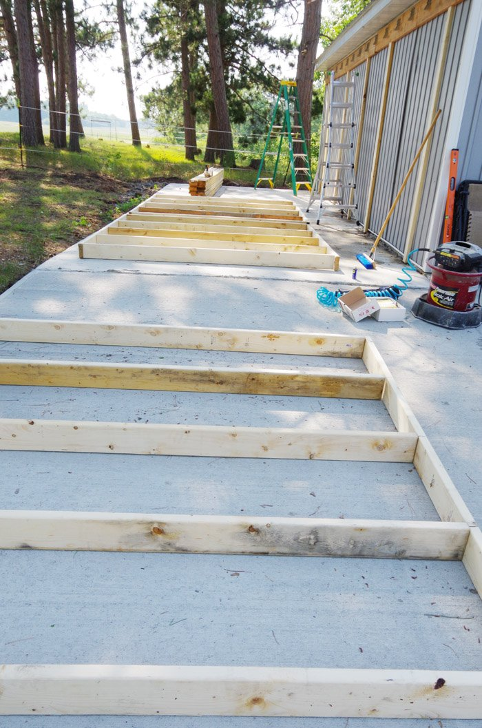 Framing out our new garage stall, stage two to completion! In my last post about our new garage addition Lodi prepped with a skid steer and