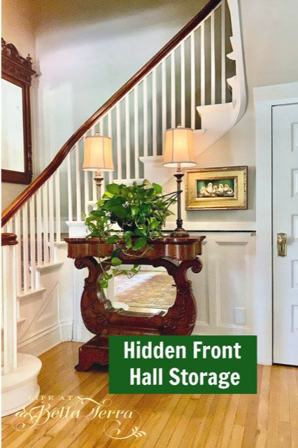 Mary from Life at Bella Terra - Hidden Front Hall Storage