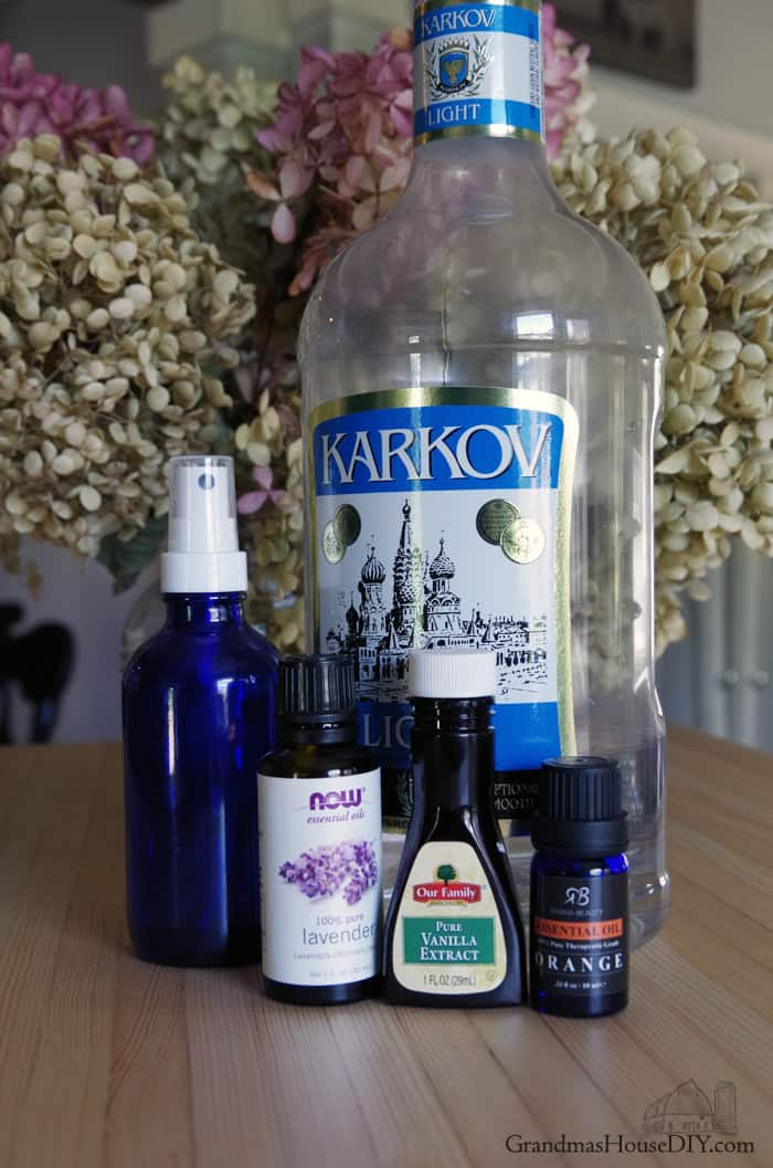 Homemade, natural, green recipe for perfume using vodka, lavendar, orange and vanilla!