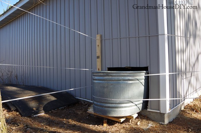 Moving my horses and their water tank to my garage after our barn has become a hazard because the roof fell in this last awful winter of 2018-2019