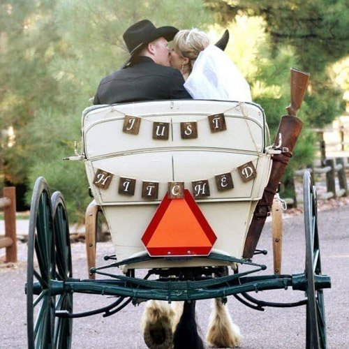 DIY 'Just Hitched' Pallet Wood Wedding Banner