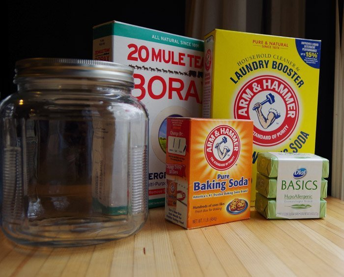 Here is my simple recipe for hypoallergenic homemade laundry detergent! Only $6 for 50 loads and you can make it in less than 5 minutes! Cheap Laundry Soap!