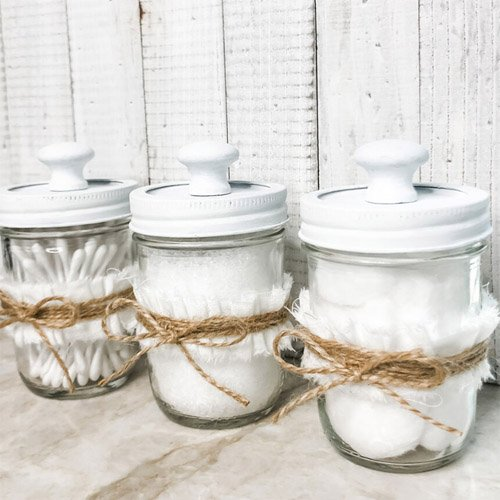 Mini Mason Jar Crafts to Help Organize