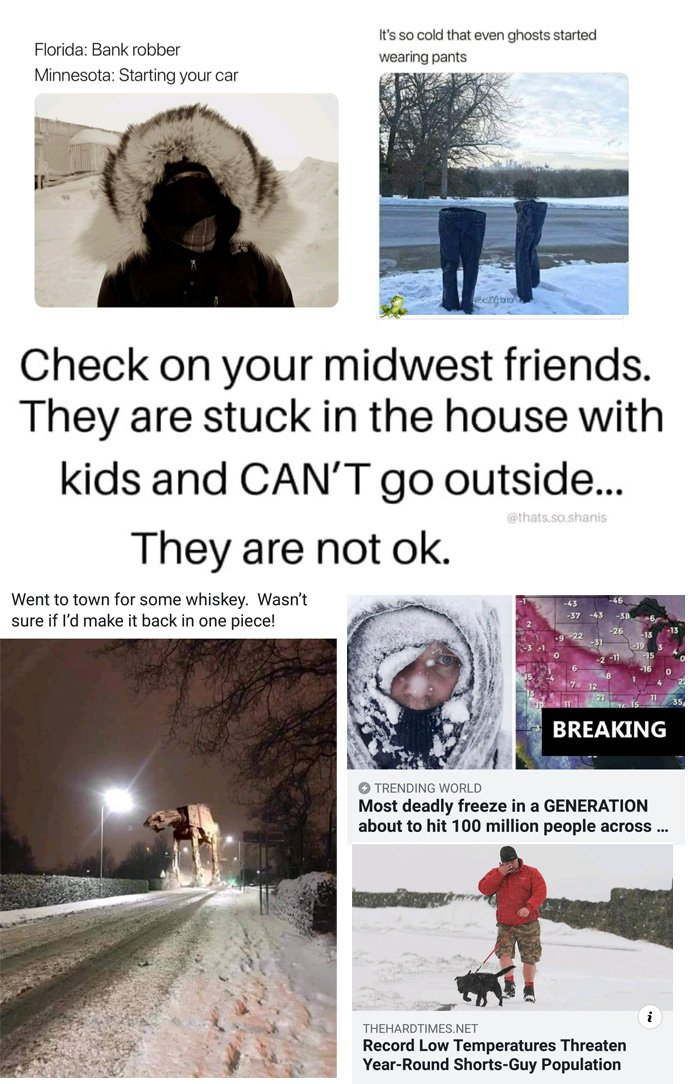 Living in the coldest spot in the nation during the January 2018 polar vortex in northern Minnesota. Horses water, being sure to stay safe and warm.