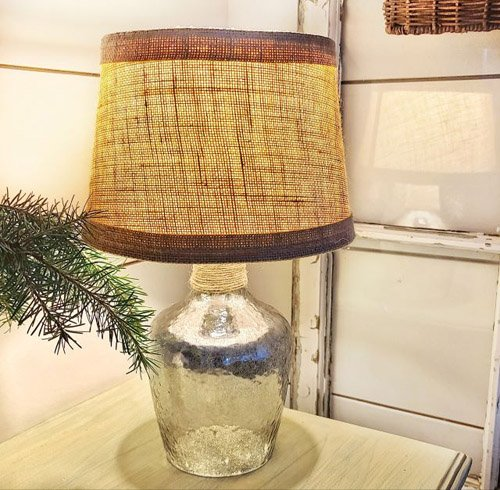 Kim from Shiplap and Shells - How to Create a Mercury Glass Lamp Base with a Twist