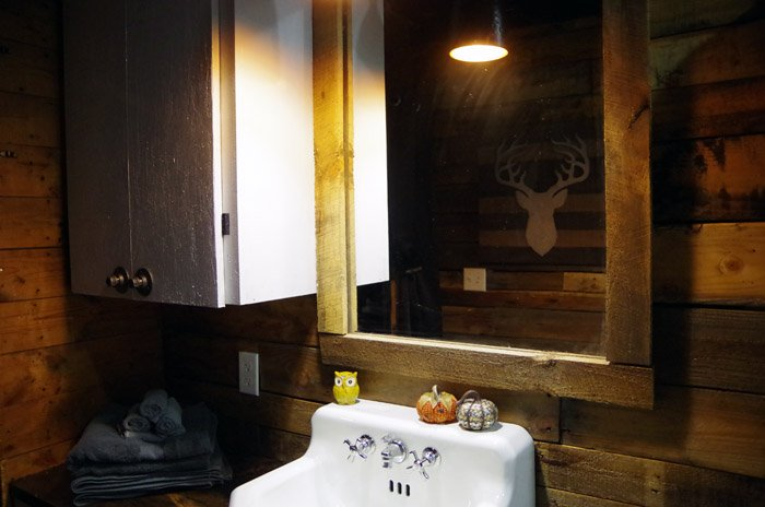 Basement Bathroom Reveal, adding just a touch of girl to this little space because it was starting to feel like a man cave and not in