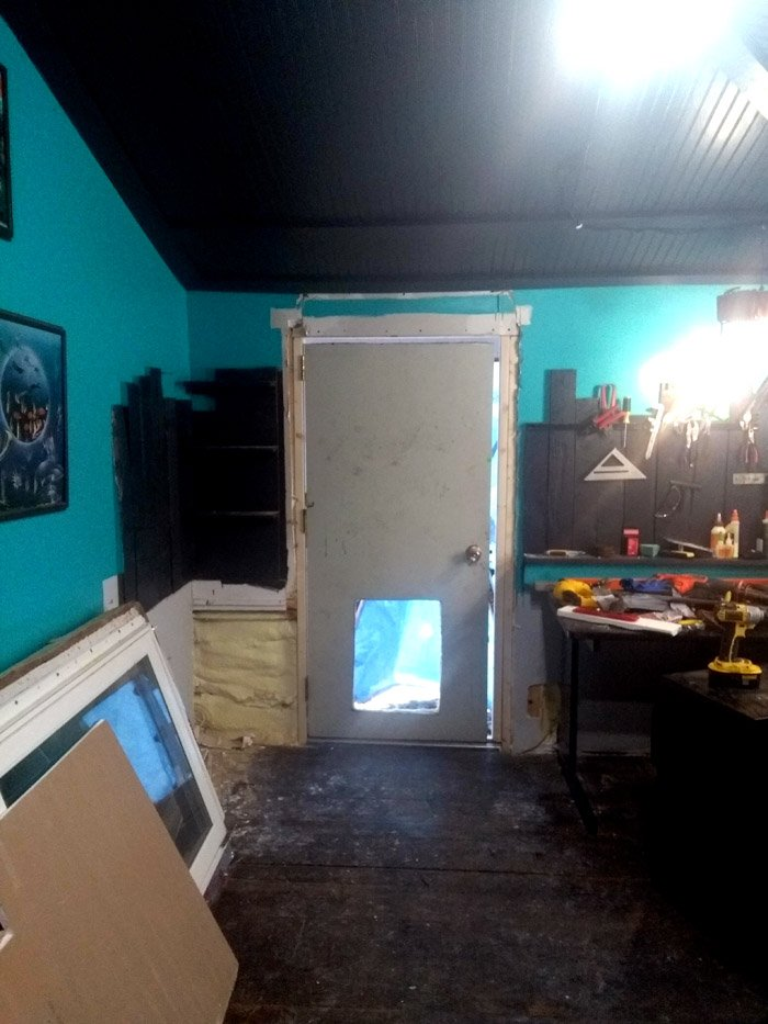 New door in the workshop