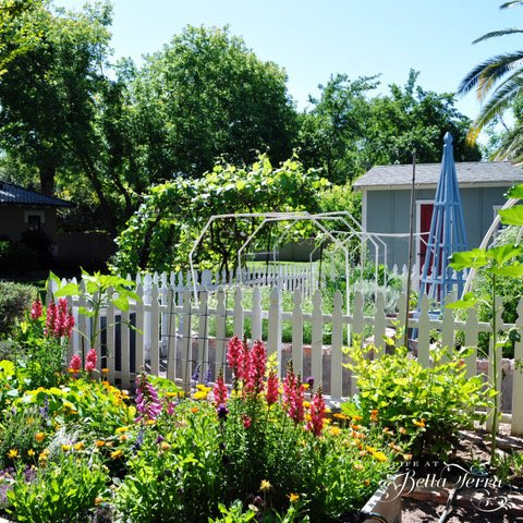 Mary from Life at Bella Terra - How to Build a Garden Obelisk