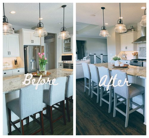Niky from The House on Silverado - Kitchen Barstools Easy Makeover with Paint