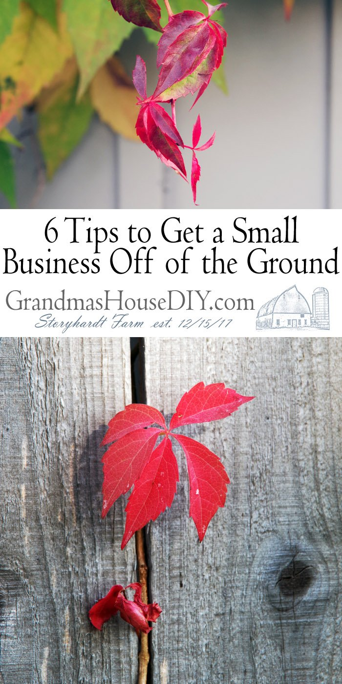 6 Tips to Get a Small Business Off of the Ground - For Bloggers too! Starting a new blog or business can be a daunting situation especially if your budget depends on it. Choices like whether to get a loan or just work late besides your day job are big decisions that these tips will help!