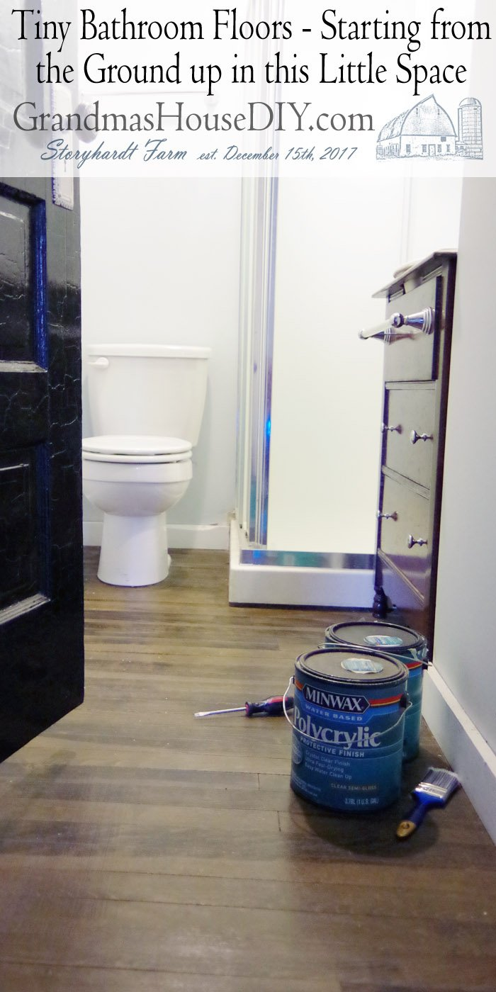 Starting in on our tiny main floor bathroom floors and a thorough cleaning and assessment of this neglected space so its not so embarrassing!