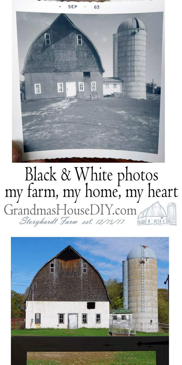 Black and White. Old photos, my farm, my home, my family pictures throughout the last seventy years. My grandparents farm left to me in their passing has gone through numerous changes over the years from renovations they did to my own giant renovation to make this farm my forever home.