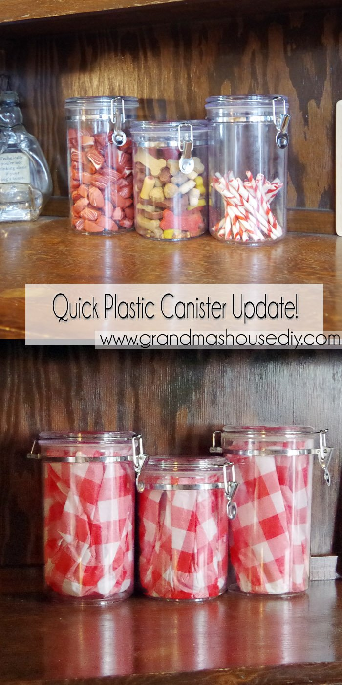 Quick plastic canister update! I think just about everyone has some of these clear plastic cannisters lying around. When Lodi moved in